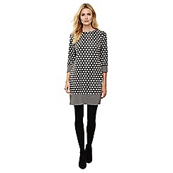 Phase Eight - Grey sandy spot tunic dress