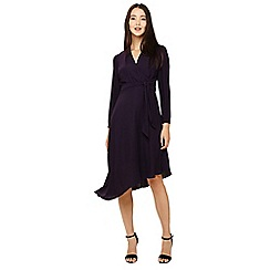 Phase Eight - Purple justine wrap drape dress