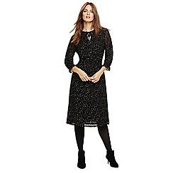Phase Eight - Black francheska flocked dress