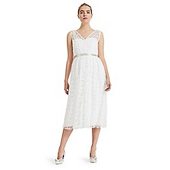 Phase Eight - Cream amalia embroidered bridal dress