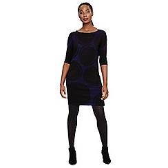 Phase Eight - Black sammy spot print knitted dress