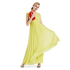 Phase Eight - Yellow marion crinkle maxi dress
