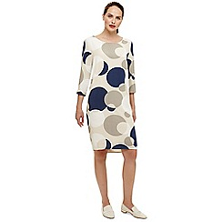 Phase Eight - Cream diletta spot dress