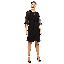 Phase Eight - Black lucia tie front dress
