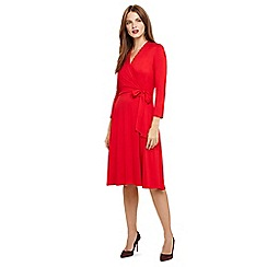 Phase Eight - Red wendelin wrap bodice dress
