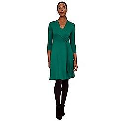 Phase Eight - Green wendelin wrap bodice dress