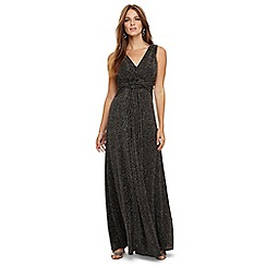 Phase Eight - Black and bronze katia sparkle maxi dress