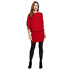 Phase Eight - Red liane cold shoulder shimmer dress