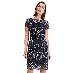 Phase Eight - Blue Lizzy embroidered dress