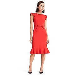 Phase Eight - Red Stella bow detail dress
