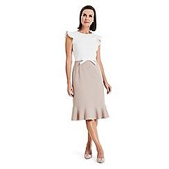 Phase Eight - White Stella bow detail dress