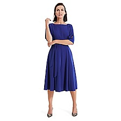 Phase Eight - Blue Cleo tie waist dress