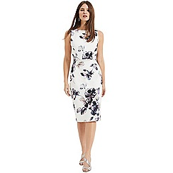 Phase Eight - White Gracie floral scuba dress