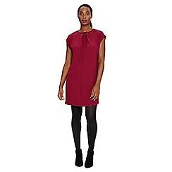 Phase Eight - Purple maya pleat neck tunic dress