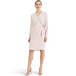 Phase Eight - Pink Briella wrap woven dress