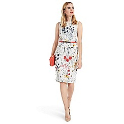 Phase Eight - White jaida floral peplum dress