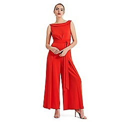 Phase Eight - Red Geneviev bardot jumpsuit