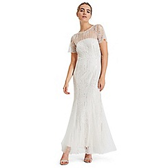 Phase Eight - White leonora sequin embroidered bridal dress
