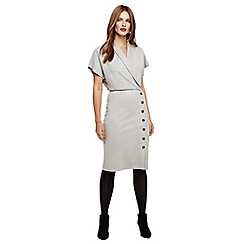 Phase Eight - Grey Bianca button skirt dress