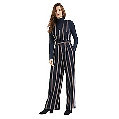 Phase Eight - Navy and multi tate stripe jumpsuit