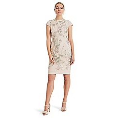 Phase Eight - Pink annalise placement embroidered dress