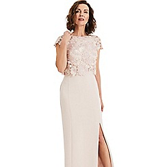 Phase Eight - Pink olivia lace bodice maxi dress