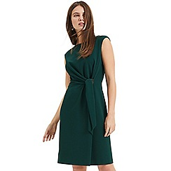 Phase Eight - Green birdie side buckle dress