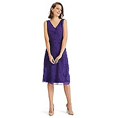 Phase Eight - Purple denise tapework dress