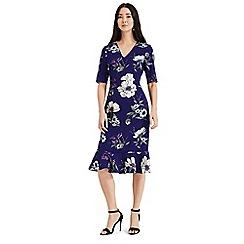 Phase Eight - Blue Cheryl printed sleeved dress
