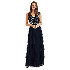 Phase Eight - Blue Cordelia Tiered Tulle Dress