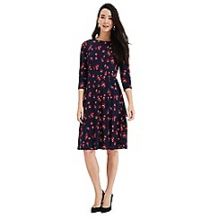 Phase Eight - Navy and Red Livi Floral Print Dress