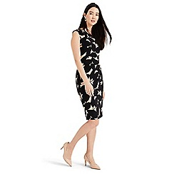 Phase Eight - Black Laurita leaf print jersey dress
