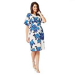 Studio 8 - Sizes 12-26 Blue and White serena dress