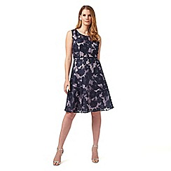 Studio 8 - Sizes 12-26 Navy dionne dress