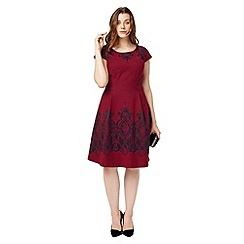 Studio 8 - Sizes 12-26 Red annalise dress