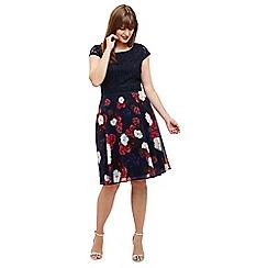 Studio 8 - Sizes 12-26 Navy nicole dress