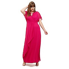 Studio 8 - Sizes 12-26 Magenta destiny dress