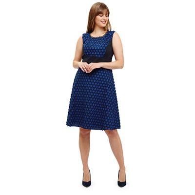 2edefc2786b Studio 8 - Sizes 12-26 Blue eden spot dress