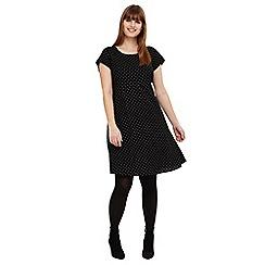 Studio 8 - Sizes 12-26 Black maria spot swing dress