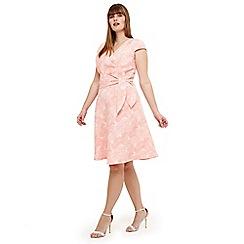 Studio 8 - Sizes 12-26 orange judy jacquard dress