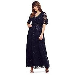 Studio 8 - Sizes 14 - 26 navy 'Persephone' sequin maxi dress