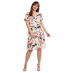 Studio 8 - Size 14-26 Pink multi-coloured calista floral dress