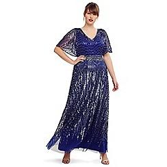 11481618fc0e5 Studio 8 - Size 14-26 Cobalt athena beaded maxi dress