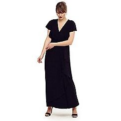 Studio 8 - Size 14-26 Black camilla frill maxi dress