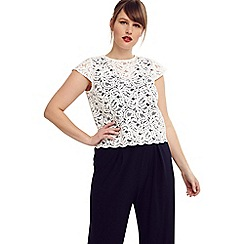 Studio 8 - Size 14-26 Navy and Ivory jessica lace jumpsuit