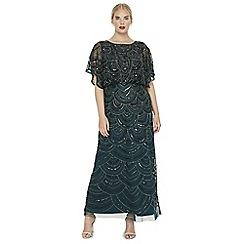 Studio 8 - Sizes 14-26 pine jupiter beaded maxi dress