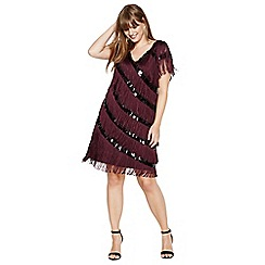 Studio 8 - Sizes 14-26 lottie fringe dress