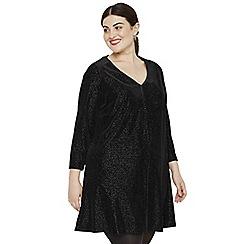 Studio 8 - Sizes 14-26 Black vivian velvet tunic dress