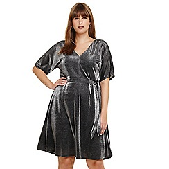 Studio 8 - Sizes 14-26 Silver ashley shimmer dress