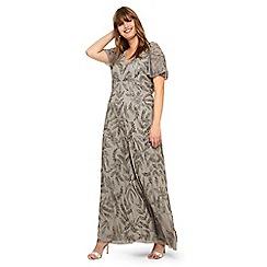 Studio 8 - Sizes 14-26 Silver Guinevere Beaded Maxi Dress